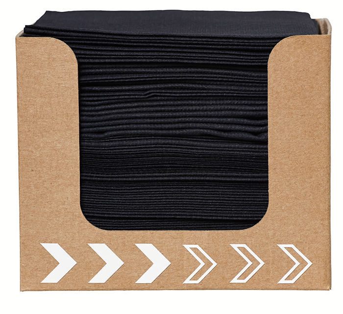 デュニソフトナプキン20×20cm (ディスペンサー) ブラック